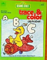 "1984 Sesame Street ""Trace & Color"" Alphabet Book ~ 100% Complete & UNUSED ~ NOS"