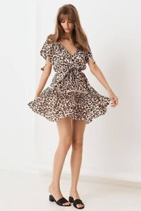 Spell Bodhi Leopard Mini Dress - Size Small pre-owned Excellent condition