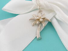 New Tiffany & Co Silver Nature Palm Tree Summer Necklace Box Included