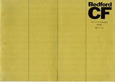 Bedford CF 1969 UK Market Salesmans Confidential Preview Brochure