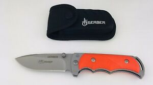 "Gerber Freeman Guide Folding Hunter Skinner Pocket Knife Sheath 8"" Open 4660820A"