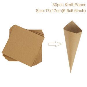 Wedding Confetti Cone Tray Holder Stand Box Kraft Paper Rustic Favour Decoration