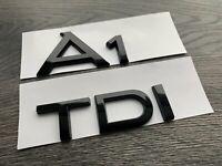 AUDI A1 TDI GLOSS BLACK BADGE SET FINISH LETTERING S LINE BLACK EDITION S1