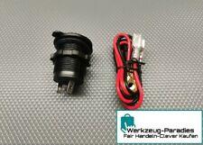12v Wasserdicht Auto Motorrad Zigarettenanzünder Steckdose Stecker mit Kabel.