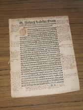 Inkunabel Fragment, M. Anthonii Sabelliri Diario, um 1500