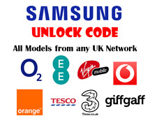 Unlock Code For EE O2 Tesco Orange UK Samsung Galaxy Note 4 5 8 S6 S7 S8 Edge S9