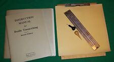 1961 BRAILLE TRANSCRIBING INSTRUCTION MANUAL TOOL HOWE PRESS PERKIN BOOK 4 BLIND
