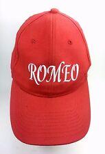 Romeo Red Trucker Baseball Hat Embroidered Adjustable Trucker Baseball Hat