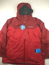 Columbia Mens 2XL Whirlibird 3 Point Interchange Red Omni Tech Heat Jacket $220