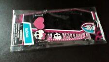 """GIRLS NECKLACE MONSTER HIGH """"I heart MH!"""" RVampire Lips, Pink Heart SKULL"""
