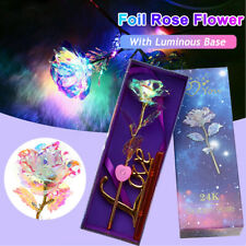 24K LED Gold Foil Galaxy Rose Flower Valentine's Day Mother's Day Lovers Gift