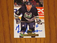 GEOFF SANDERSON AUTOGRAPHED THE LEAF SET CARD