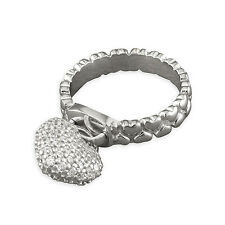 Hearts band with cubic zirconia heart charm