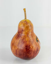 Antique Vintage Carved Alabaster Stone Decorative Faux Fruit Pear Decorator