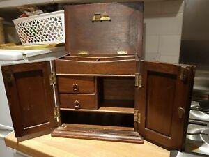 Antique Vintage Oak Smokers Cabinet- Scottish / British Nutty Brown