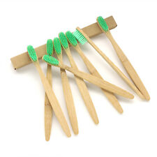 100PCS/Lot Bamboo Toothbrush Green Soft Bristles For Adult Oral Care Wholesale