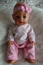 """Zapf Creation 17"""" Baby Born Interactive Doll and Instructions"""