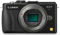 BLACK PANASONIC LUMIX DMC-GX1K 16.0 MP DIGITAL CAMERA BODY ONLY UK *EX-DISPLAY