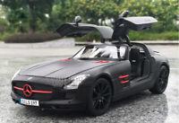 1/18 Daimler Mercedes Benz SLS AMG Maisto 36196 Diecast Model Car Matt black