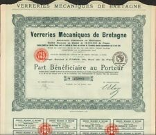 VERRERIES MÉCANIQUES DE BRETAGNE, devenus GLACE DE BOUSSOIS puis DANONE (V)