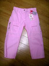 Pantalone bermuda bambina ragazza tg. 40 - 10 12 anni cotone rosa nuovo