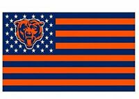 Chicago Bears 3x5 Foot American Flag Banner New