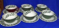 Lot of 12 Red Wing Pottery Handpainted Cups and Saucers