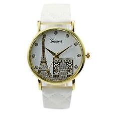 Ladies Fashion Geneva Quartz Rose Gold and Paris Eiffel Tower Band Wrist Watch.