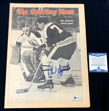 Phil Esposito Signed Boston Bruins 1969 Sporting News Magazine Beckett COA