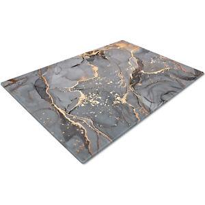 Glass Chopping Cutting Cutting Board Work Top Saver Large Grey Gold Black