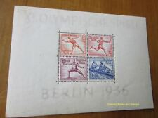 EBS Germany 1936 Berlin Olympics Michel Block 6 MH* cv $79.00