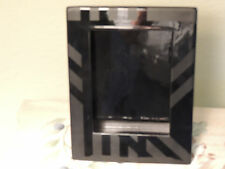 Ceramic Black Holds a 4 X 6 Photo Frame NO GLASS FREE STANDING HEAVY 6.5 x 8 fra