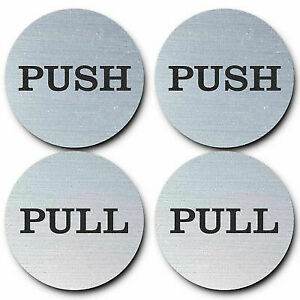 "2"" Round Push Pull Door Signs - 2 sets"
