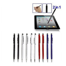 10Pc 2-in-1 Touch Screen Stylus Ballpoint Pen For iPad iPhone Smartphone Tablet