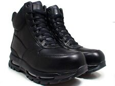 "Nike Air Max GOADOME 6"" WP ACG Size 10 Black Boots Shoes Mens Leather 806902 001"
