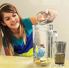 Kids Fish Aquarium Desktop Tank Self Cleaning Betta Tanks Small Fun Home LED