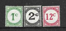 BRITISH GUIANA  1940-55  POSTAGE DUE  SET 3  MNH/MH   SG D1/4