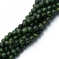 Strand of Round Kambaba Jasper Gemstone Jewelry Making Loose Gem Beads 6mm