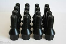16 X M12 X 1.5 30MM BLACK ALLOY WHEEL BOLTS FIT VW LUPO POLO PASSAT 4 STUD