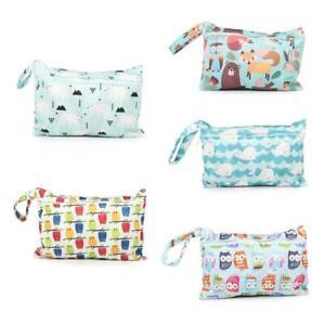 Baby Diaper Bag Printed Waterproof Wet Dry Nappy Zipper Handbag Stroller Pack