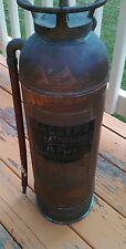 Vintage Badger Fire Extinguisher copper brass fire department equipment