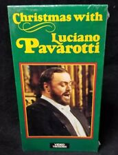 Christmas with Luciano Pavarotti VHS Tape, 1988, NEW Unopened FREE SHIPPING