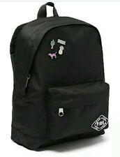 Victorias Secret PINK MINI BACKPACK NO PIN SET Book Bag Tote Gym BLACK NEW