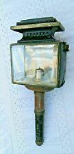ancienne lanterne de calèche rectangulaire verres biseautés 19 ème