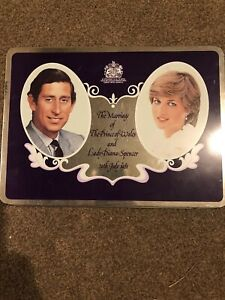 Marriage Of Prince Charles/Lady Diana Spencer EMPTY Cadburys Milk Chocolate Tin