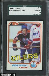 1981-82 Topps Hockey #16 Wayne Gretzky Oilers SGC 92 NM-MT+ 8.5