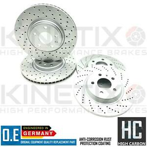 FOR AUDI A6 2.0 TDI C7 FRONT REAR DRILLED PERFORMANCE BRAKE DISCS 320mm 300mm
