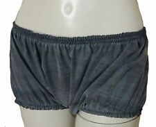 Rubber Briefs Baggy Knickers Panties Boy Shorts Pants XXL Hotpants Black