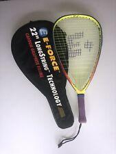 """Bedlam E-Force Racquetball Racquet Carbon Fibre 22"""" Long String Technology 195G"""