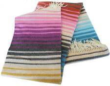 MISSONIHOME DECORATIVE THROW VITTORIANO 160 FRINGED 80% WOOL BRANDED PACKAGING